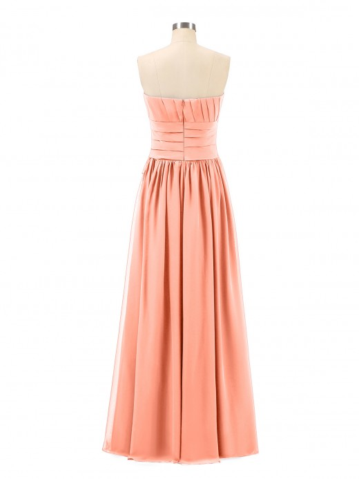 Babaroni Frederica Long Strapless Chiffon Bridesmaid Dress