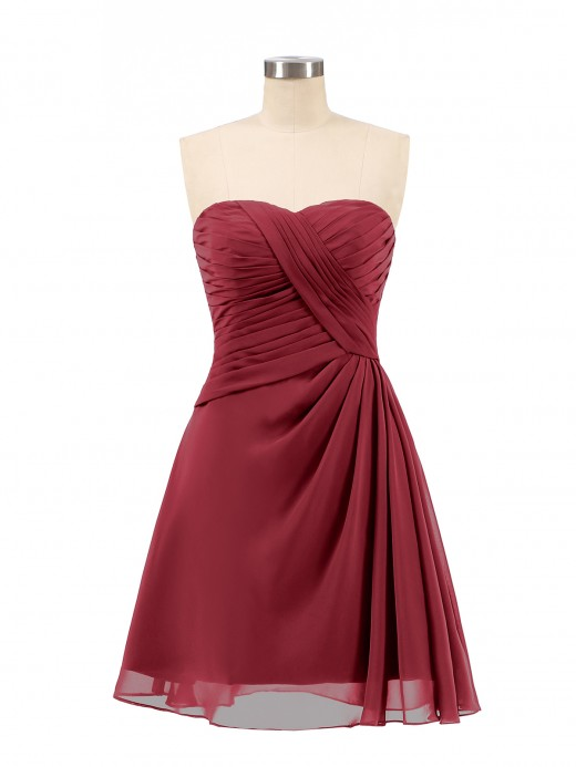Babaroni Genevieve Strapless Short Summer Bridesmaid Dresses