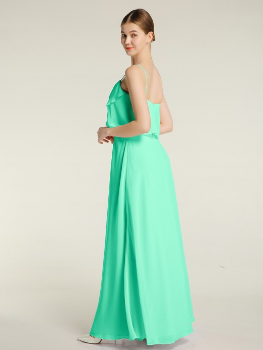 Babaroni Grace Spaghetti Straps Simple Bridesmaid Dresses