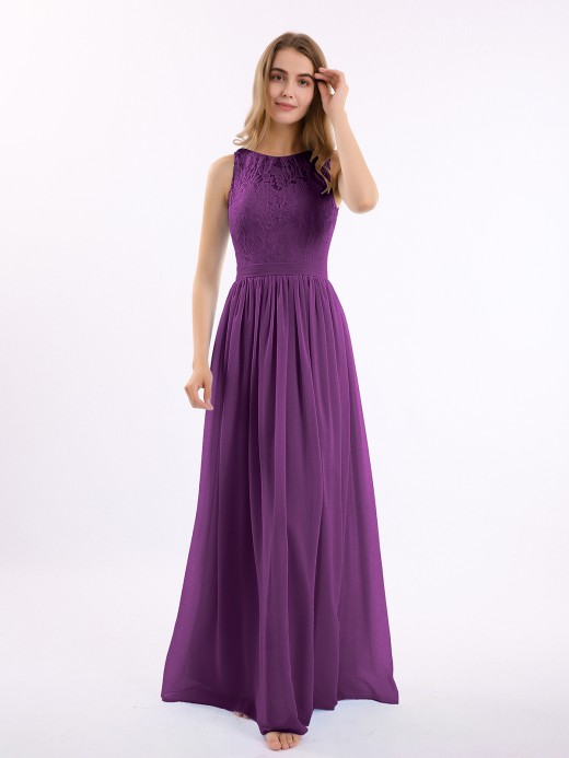 Babaroni Gwendolyn Lace And Chiffon Long Gown of Bridesmaids