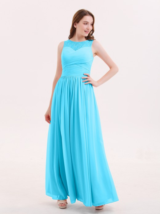 Babaroni Honey Illusion Sweetheart Neck Chiffon Bridesmaid Dress
