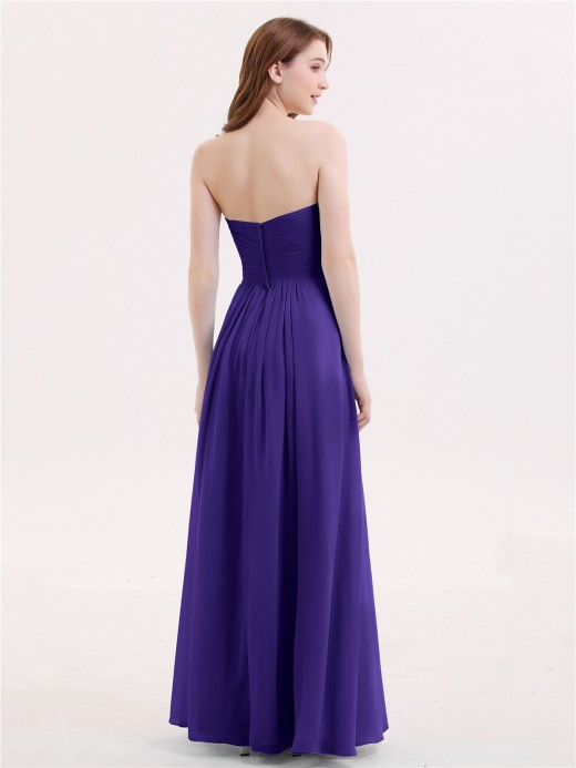 Babaroni Janice Strapless Chiffon Gown with Sweetheart