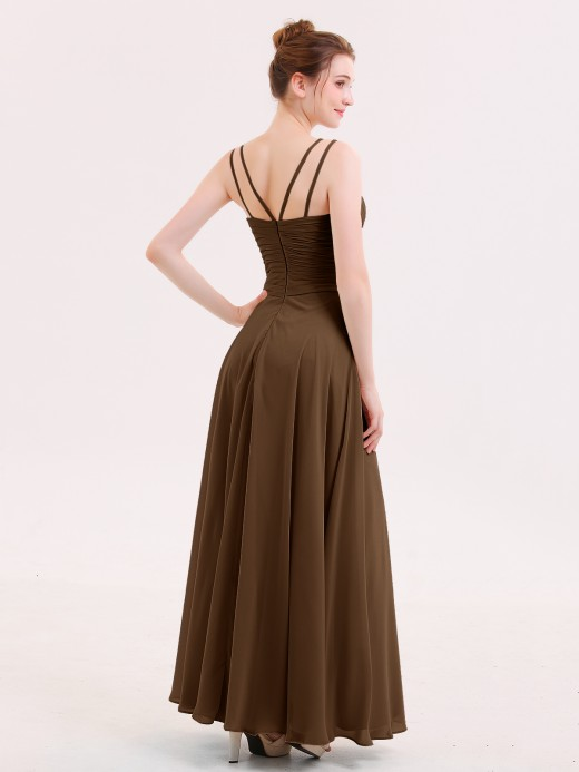 Babaroni Jenny Long Bridesmaid Dresses with Pleated Bodice