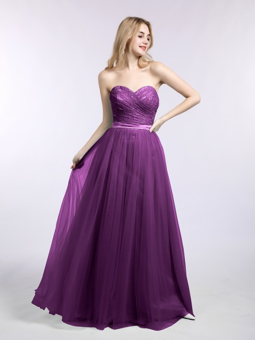 Babaroni Joan Lace and Tulle Long Gown with Sweetheart