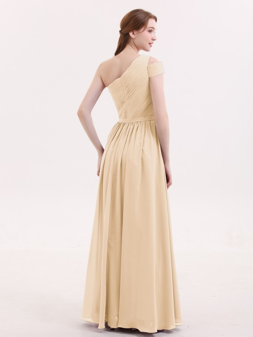 Babaroni Juliet One Shoulder Bridesmaid Gown with Sash