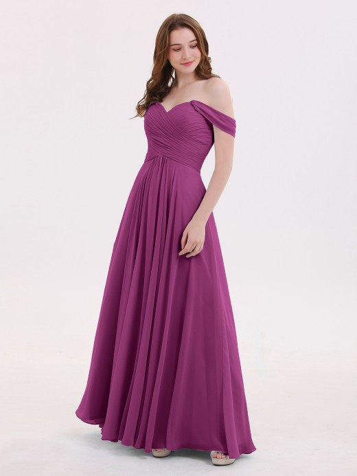 Babaroni Lindsay Off the Shoulder Empire Bridesmaid Dresses