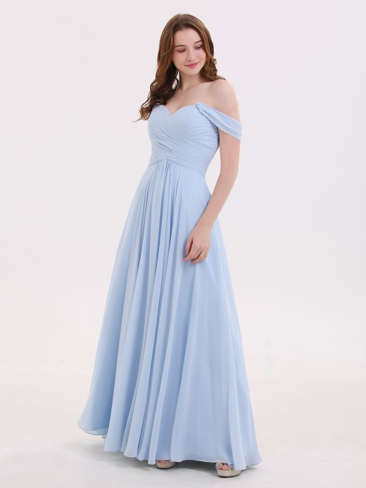 30a5e84aeb06 Babaroni Lindsay Off the Shoulder Empire Bridesmaid Dresses ...