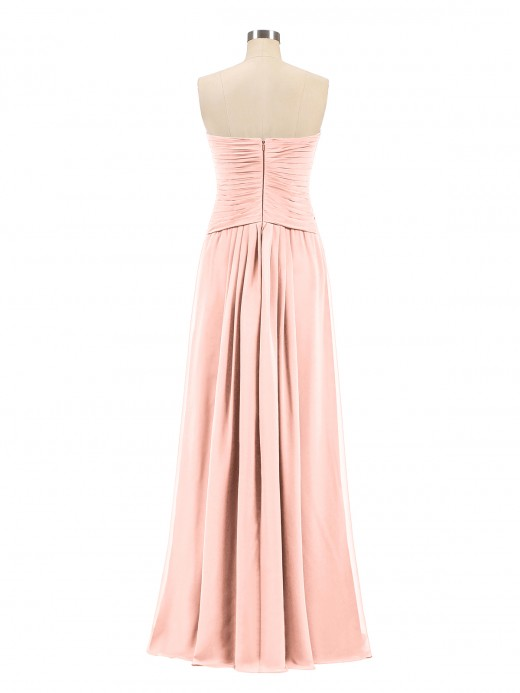 Babaroni Madeline Strapless Sweetheart Neck Chiffon Bridesmaid Gown