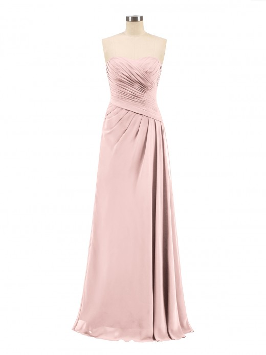 c562fb869f6 Babaroni Madeline Strapless Sweetheart Neck Chiffon Bridesmaid Gown ...