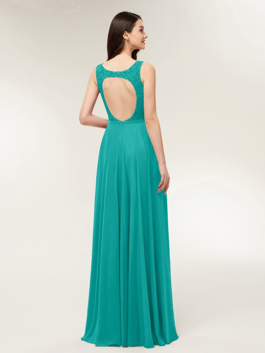 Babaroni Modesty Open Back Dress with Lace Bodice