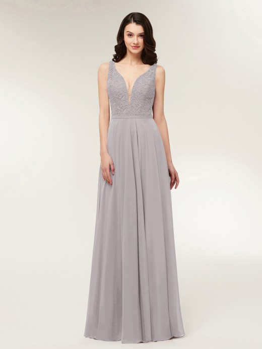 Silver Lace Prom Dresses & Gowns | BABARONI