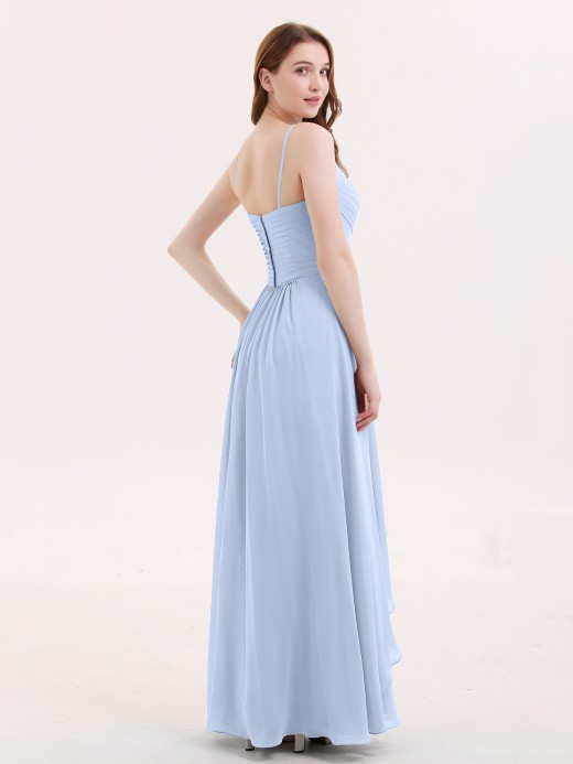 Babaroni Octavia Chiffon Bridesmaid Dresses with Cascade Skirt