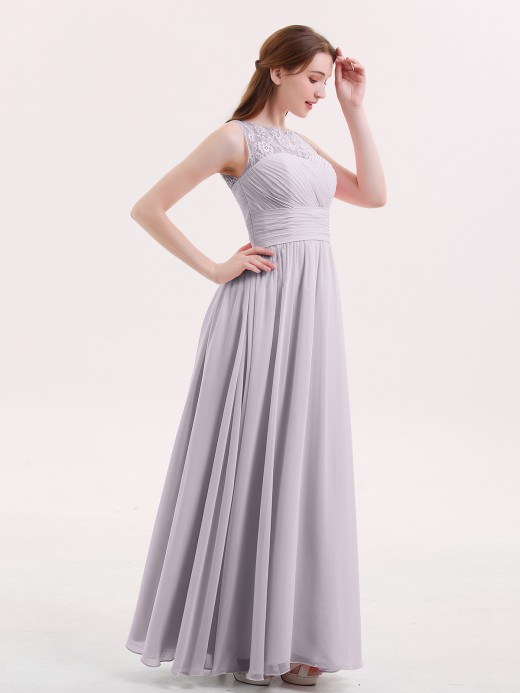 Babaroni Poppy Knee Length Short Bridesmaid Dress with V Neck