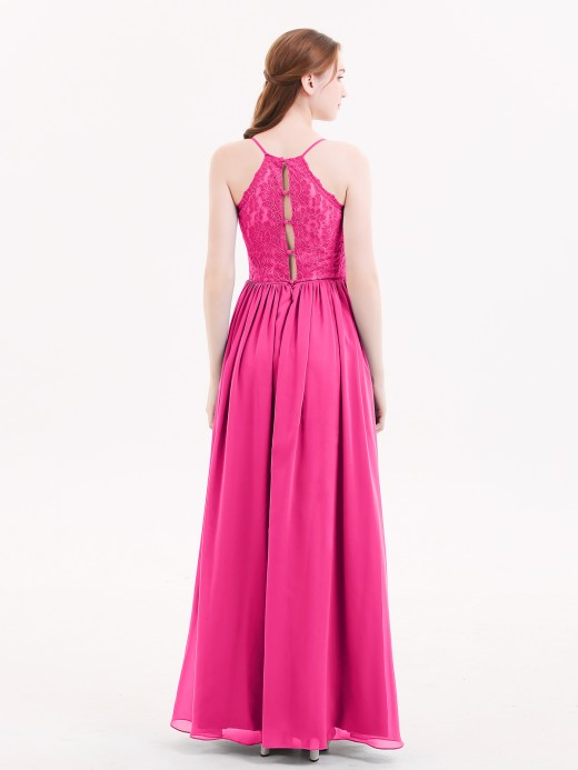 Babaroni Quintina Spaghestti Strap Chiffon Dress with Sweetheart