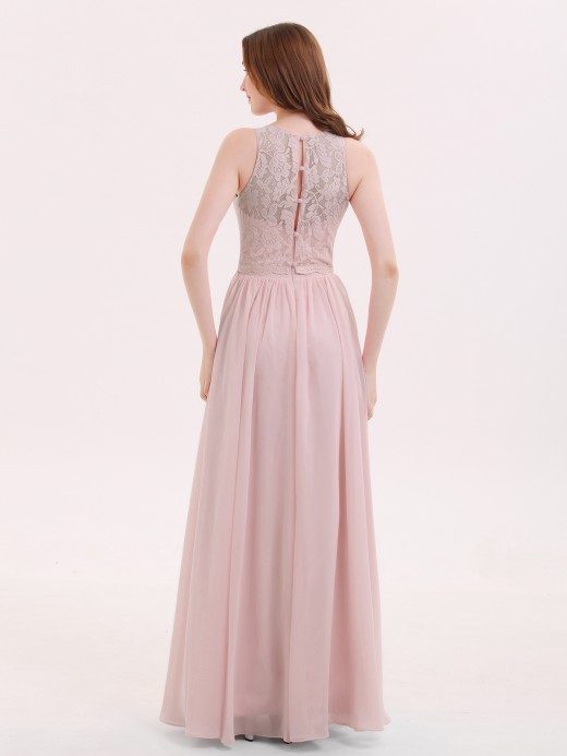 Suzanne Long Lace Dress with Illusion Sweetheart Neck US6
