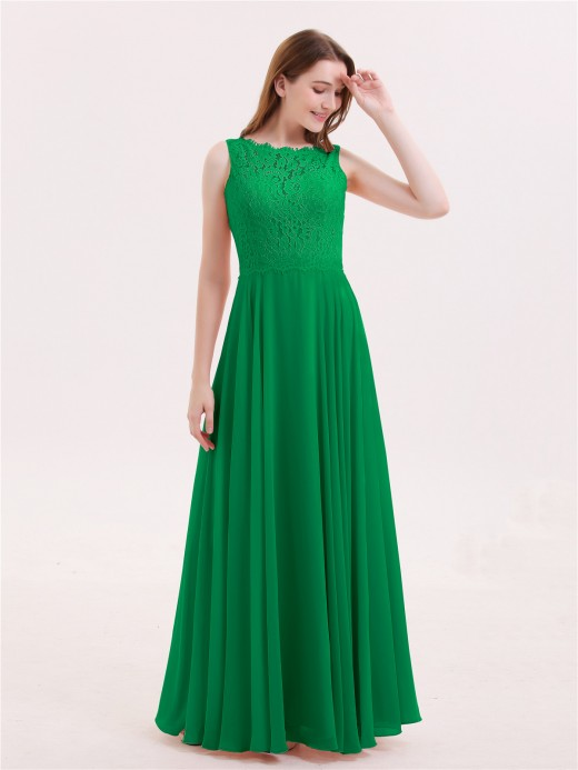be3875e10476 Babaroni Tabitha Lace Bodice Chiffon Skirt Long Dress ...