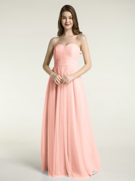 Babaroni Ula Strapless Sweetheart Neck Tulle Dresses with Bow