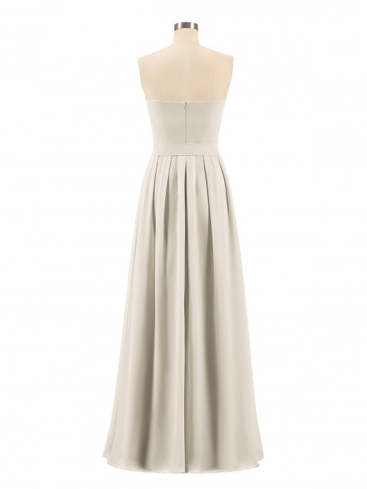 Babaroni Valentina Chiffon Strapless Bridesmaid Gown with Sash