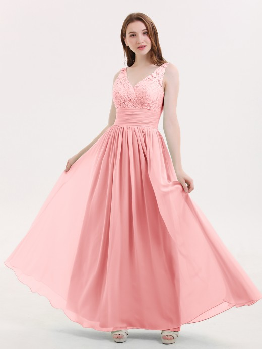 Babaroni Valerie Lace and Chiffon Dresses with Open Bck