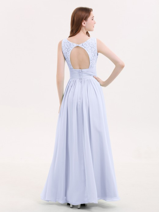 Babaroni Valerie Lace and Chiffon Dresses with Open Back