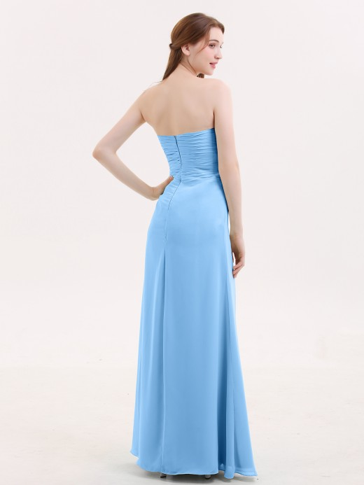 Babaroni Verna Strapless Sweetheart Neck Dress with Slit