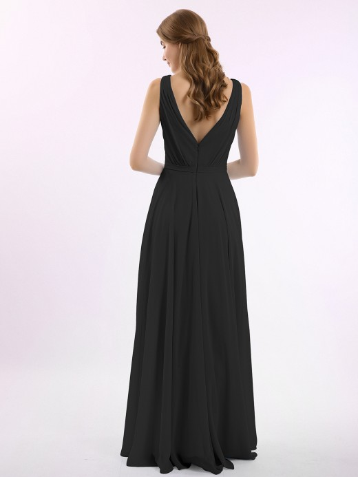 Vicky V Neckline Chiffon Bridesmaid Dresses US16