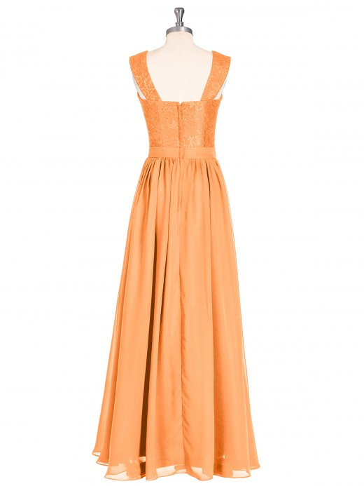 Babaroni Vivien Shoulder Strap Lace AND CHIFFON Long Dress