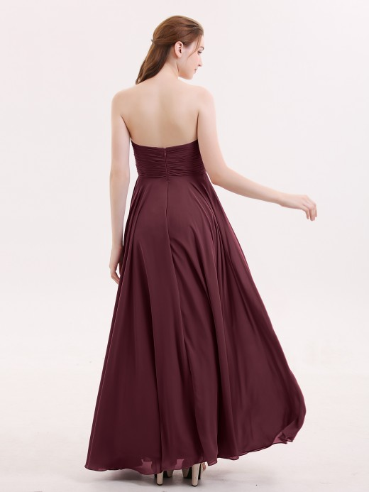Babaroni Wendy Strapless Sweetheart Maxi Bridesmaid Dress