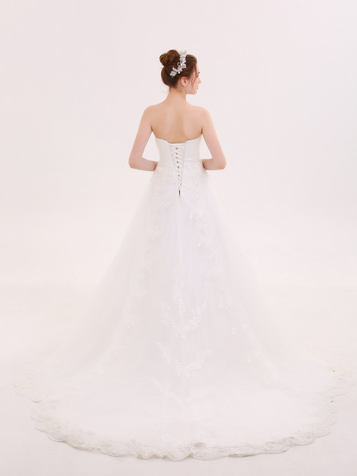 Babaroni Winni Strapless Sweetheart Neck Wedding Gown
