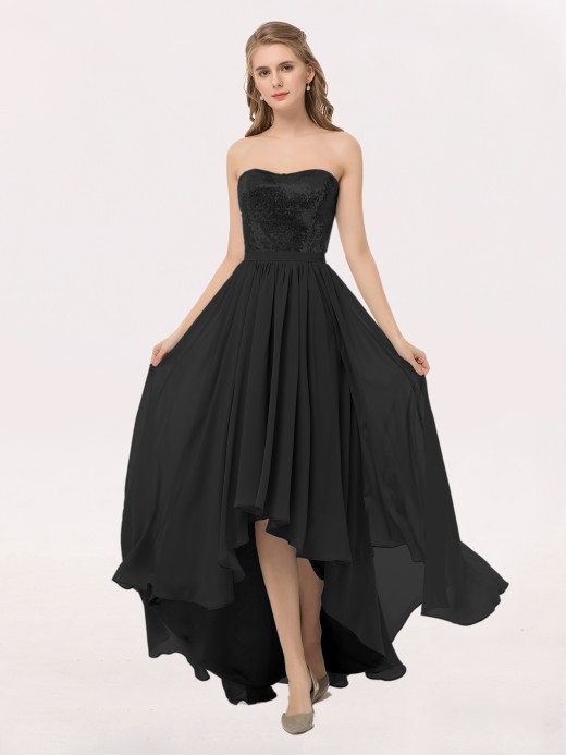 Black Strapless Bridesmaid Dresses Bridesmaid Gowns Babaroni