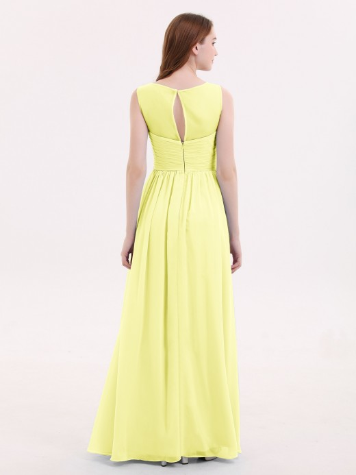 Melissa Long Chiffon Gowns with Illusion Neckline US6 US8 US10