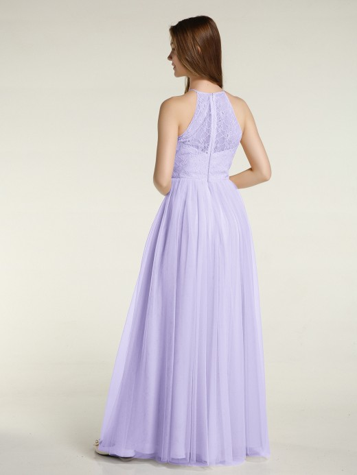 Babaroni Tina Lace Bodice and Tulle Skirt Long Dresses