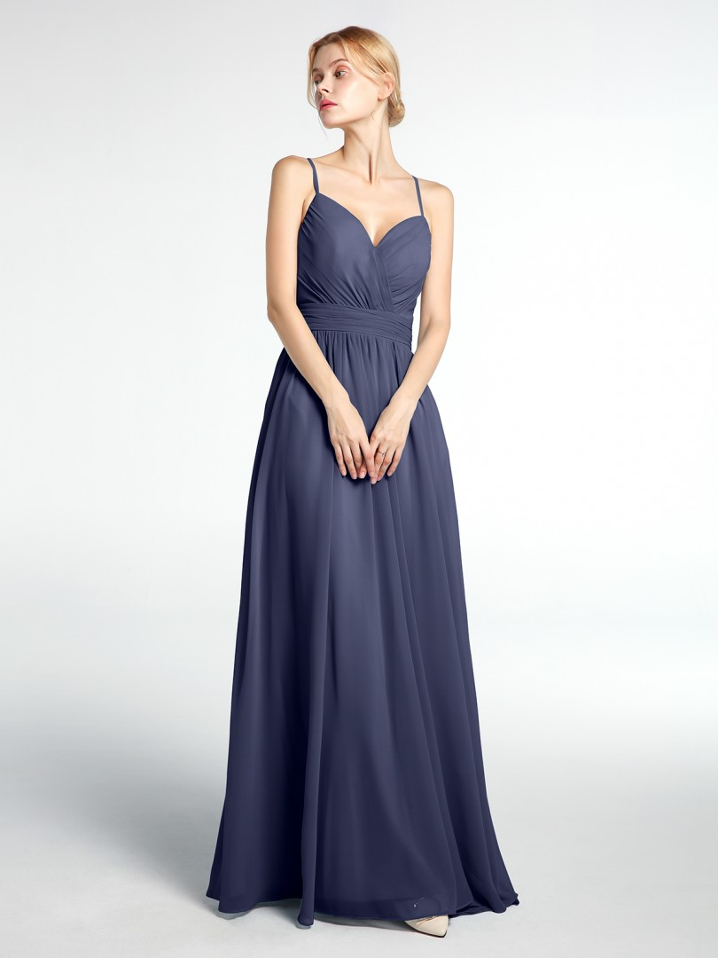 A-line Chiffon Stormy Backless  Floor-length Sweetheart Spaghetti Straps New Arrivals