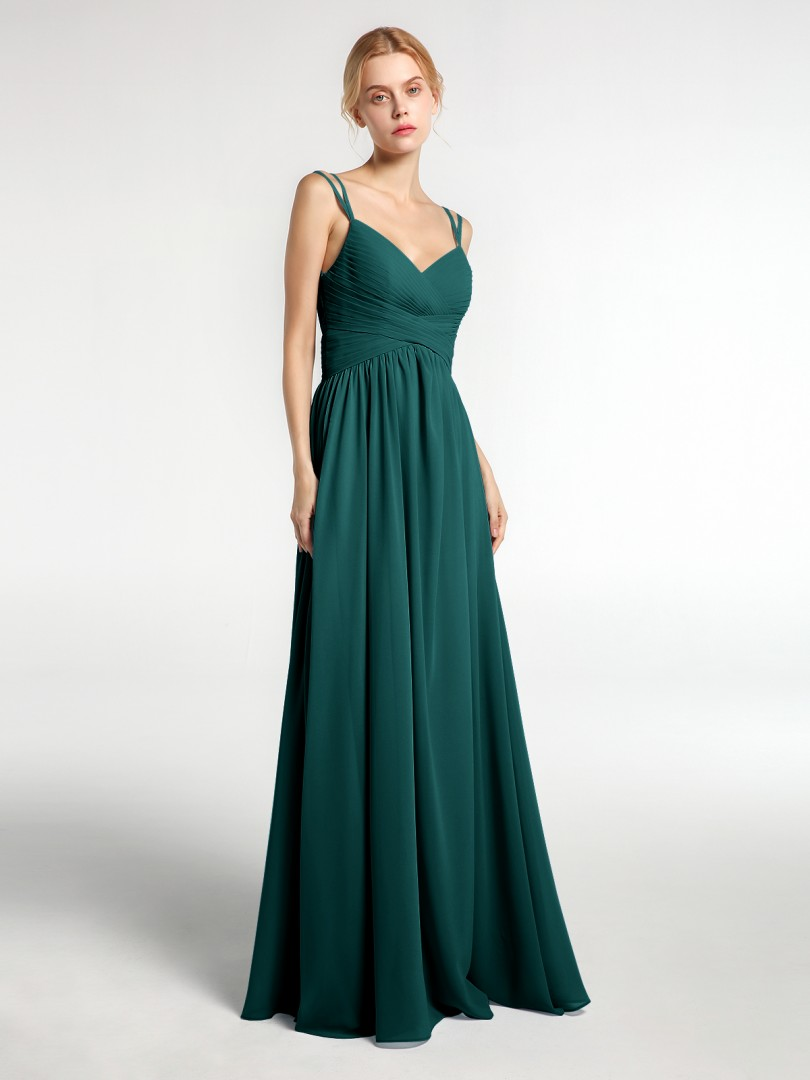 A-line Chiffon Taupe Zipper  Floor-length Sweetheart Spaghetti Straps New Arrivals