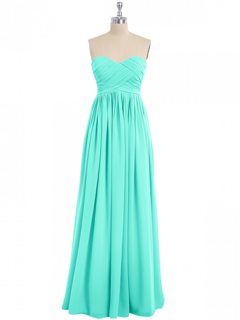 Empire Chiffon Spa Zipper Ruched, Pleated Floor-length Sweetheart Sleeveless New Arrivals