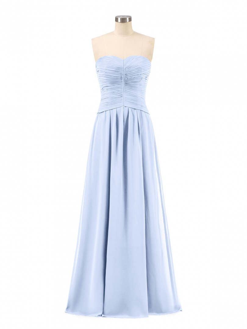 b7b638e16d77 A-line Chiffon Jade Zipper Ruched, Pleated Floor-length Sweetheart  Sleeveless Long Bridesmaid