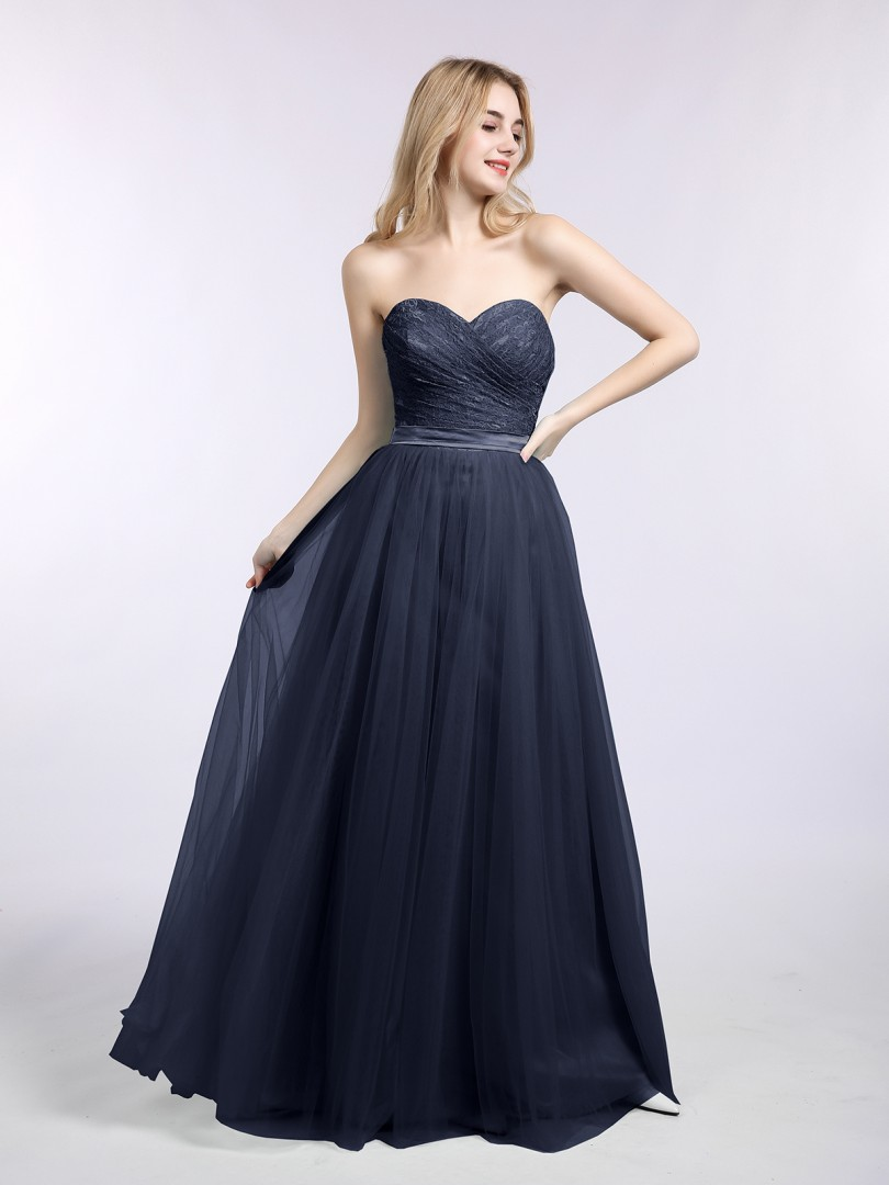 A-line Tulle Pool Zipper Bow, Sash Floor-length Sweetheart Sleeveless New Arrivals