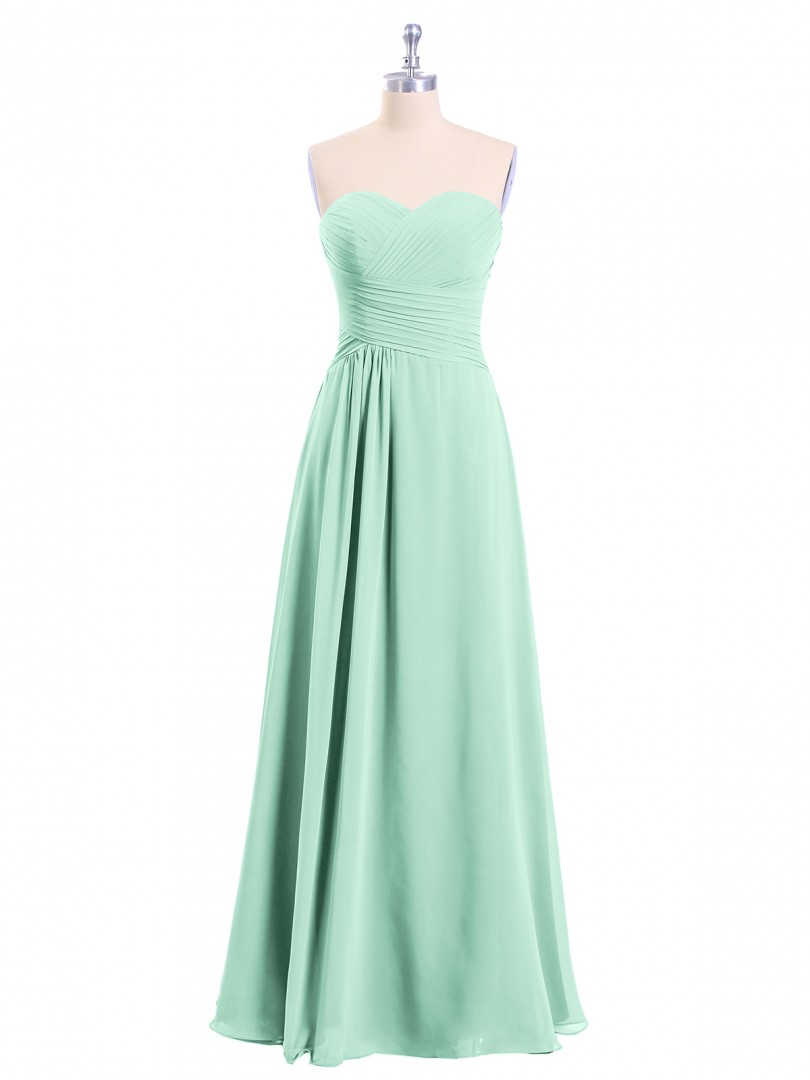 A-line Chiffon Cabernet Zipper Ruched, Pleated Floor-length Halter Sleeveless Long Bridesmaid Dresses