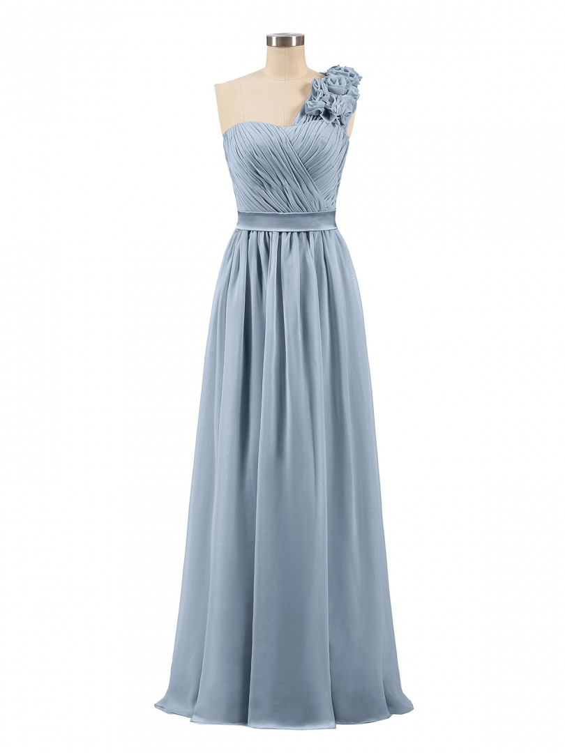 8d0e531138 ... Long Bridesmaid Dresses  Babaroni Mirabelle. A-line Chiffon Pearl Pink  Zipper Ruched