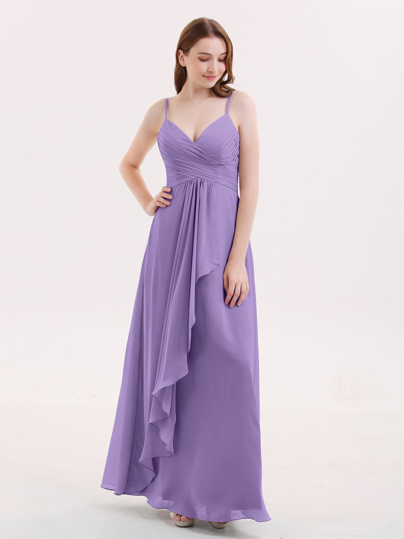477d1fc7379 Babaroni Octavia Chiffon Bridesmaid Dresses with Cascade Skirt