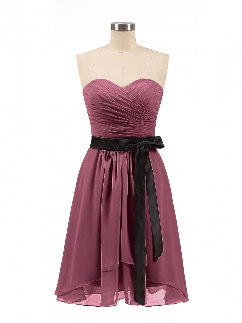 f496ee0bfb6 Home · Bridesmaid Dresses  Babaroni Rosemary. A-line Chiffon Dusty Rose  Zipper Bow