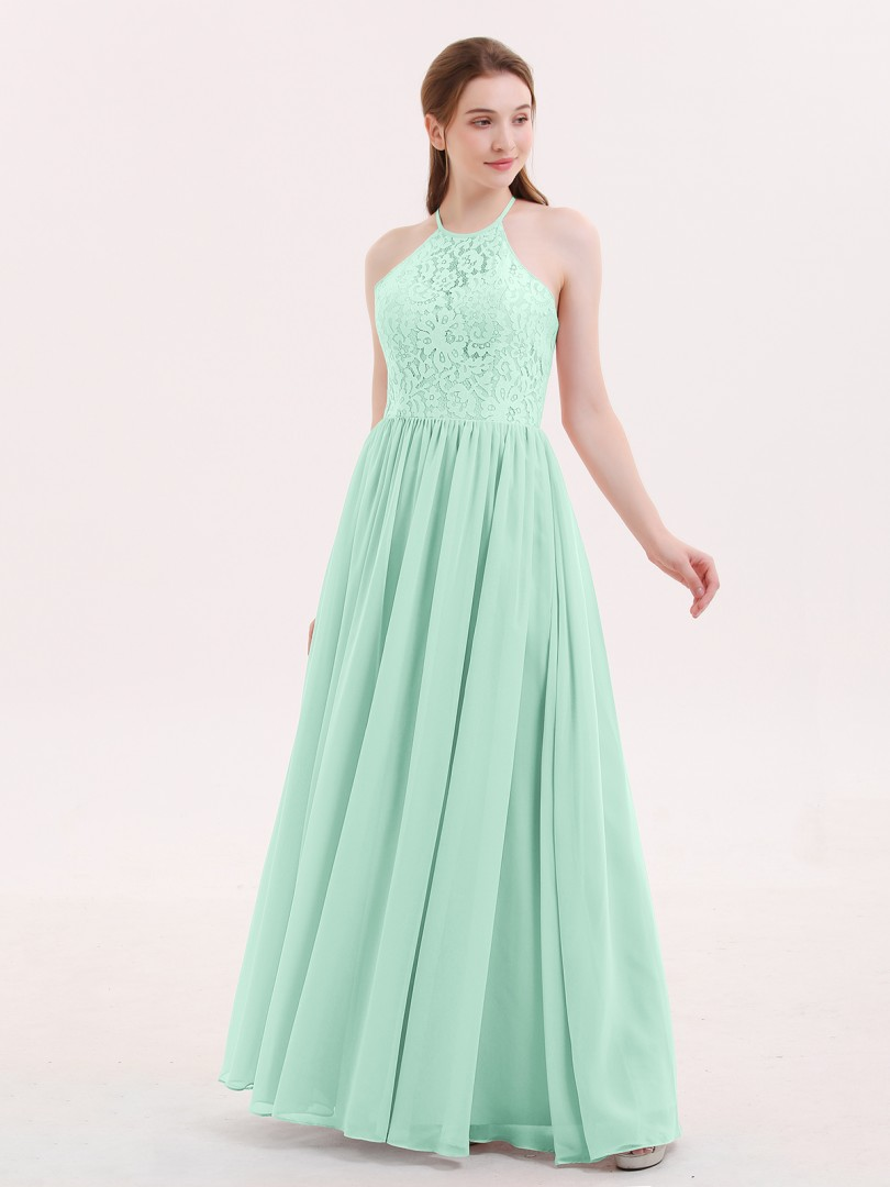 Mint Green Theresa Halter Long Gown