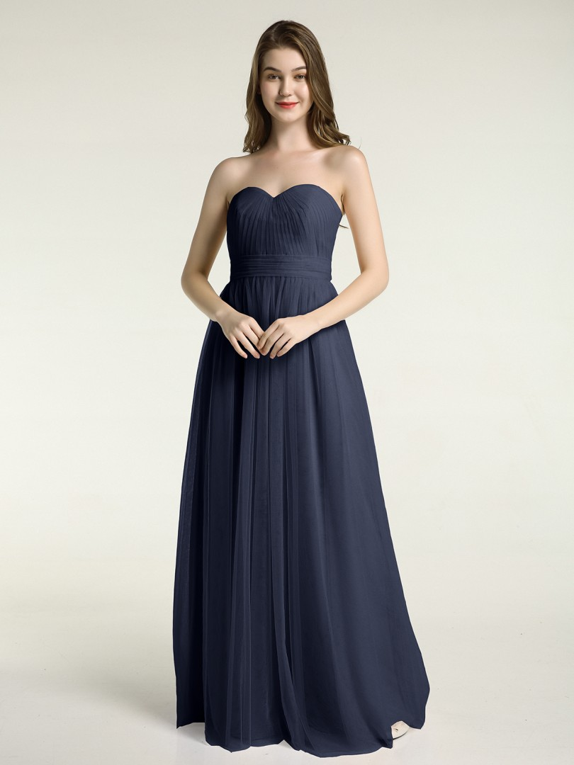 A-line Tulle Coral Zipper Ruched, Pleated Floor-length Sweetheart Sleeveless New Arrivals