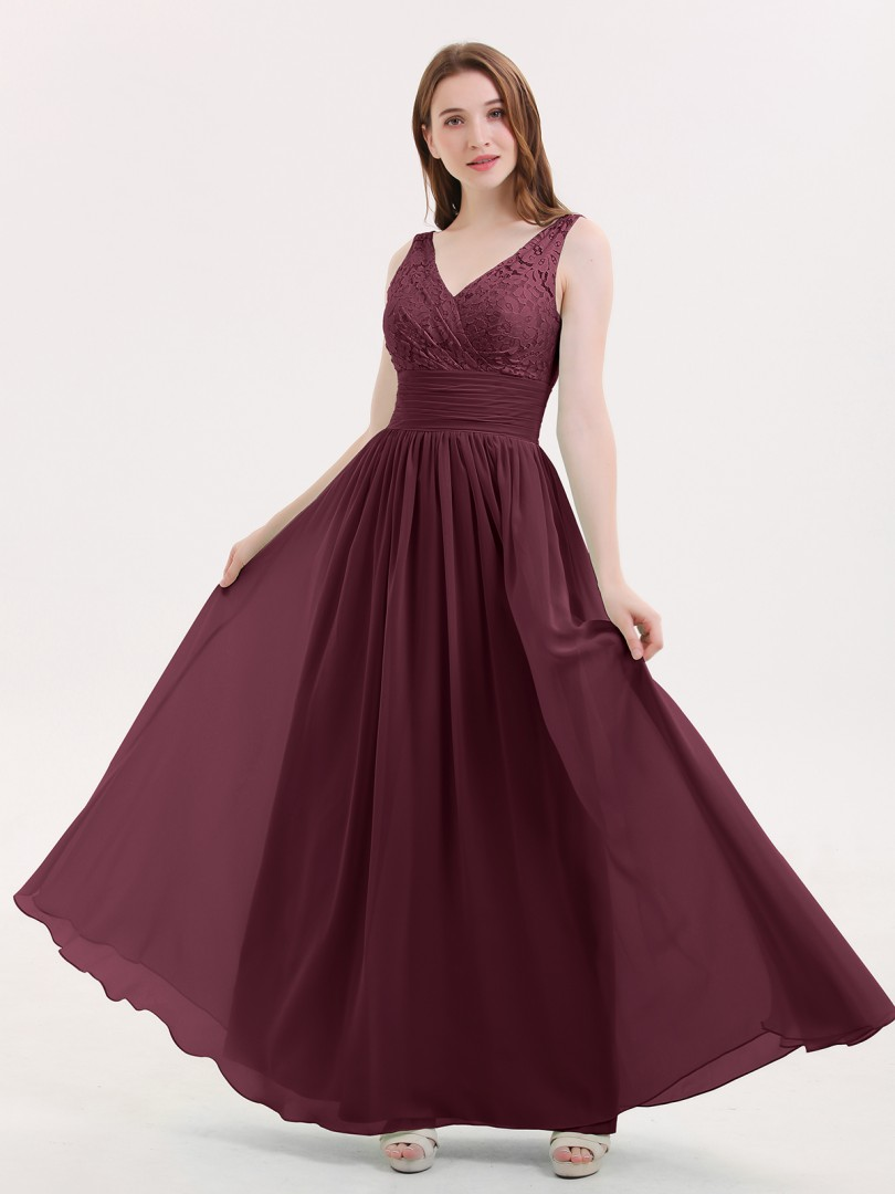 600171a8d0 Cabernet Valerie Lace and Chiffon Dresses with Open Bck